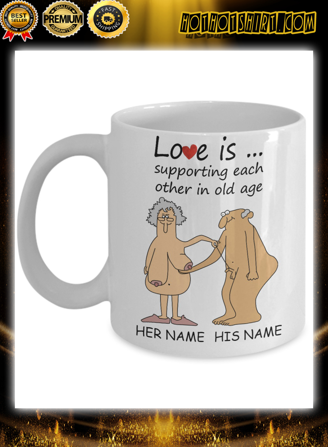 Love Is Supporting Each Other In Old Age Personalized Mug