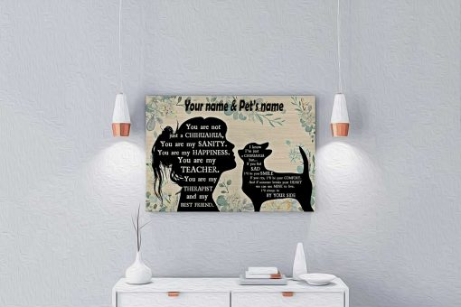 You are not just a Chihuahua personalized horizontal poster