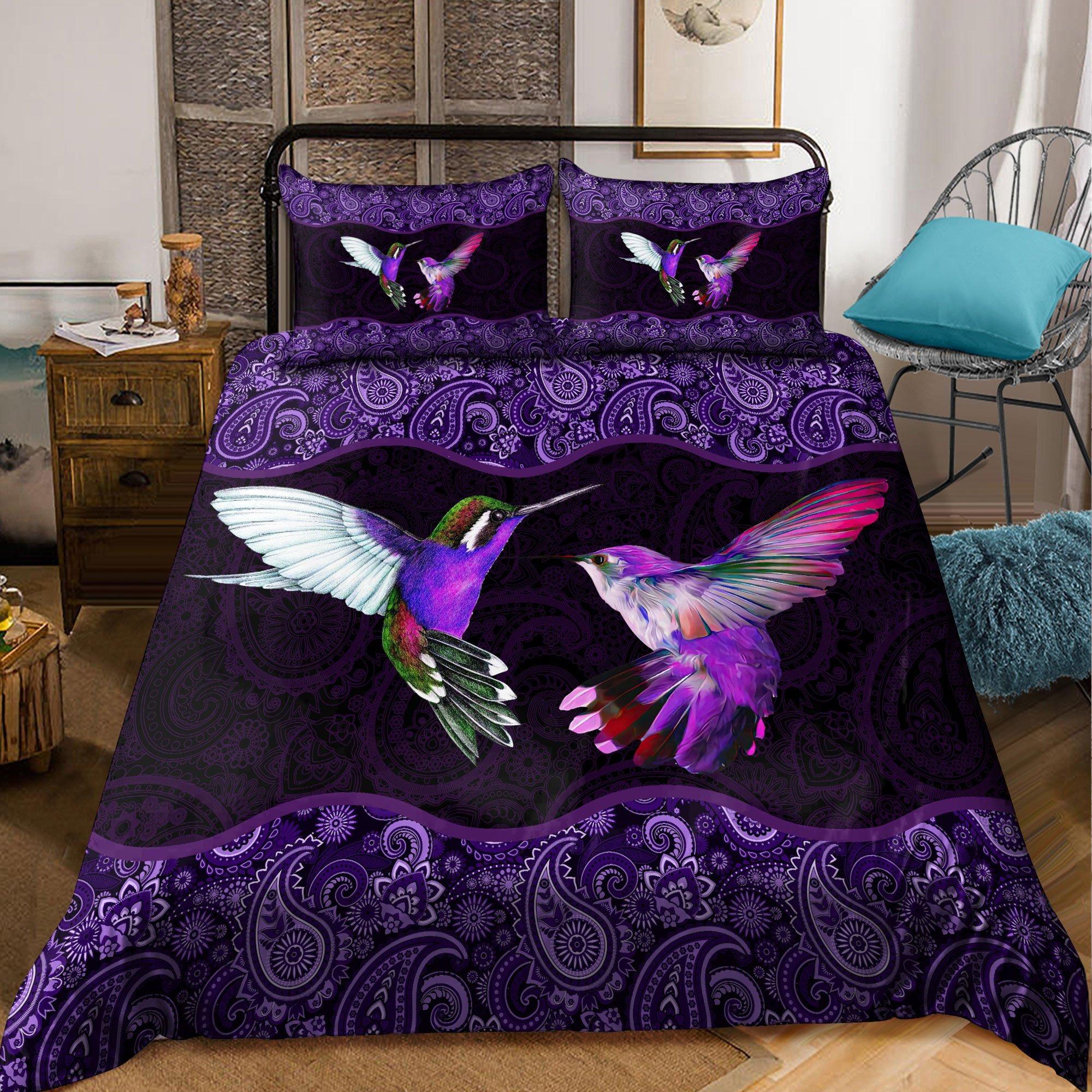 Hummingbird mandala bedding set