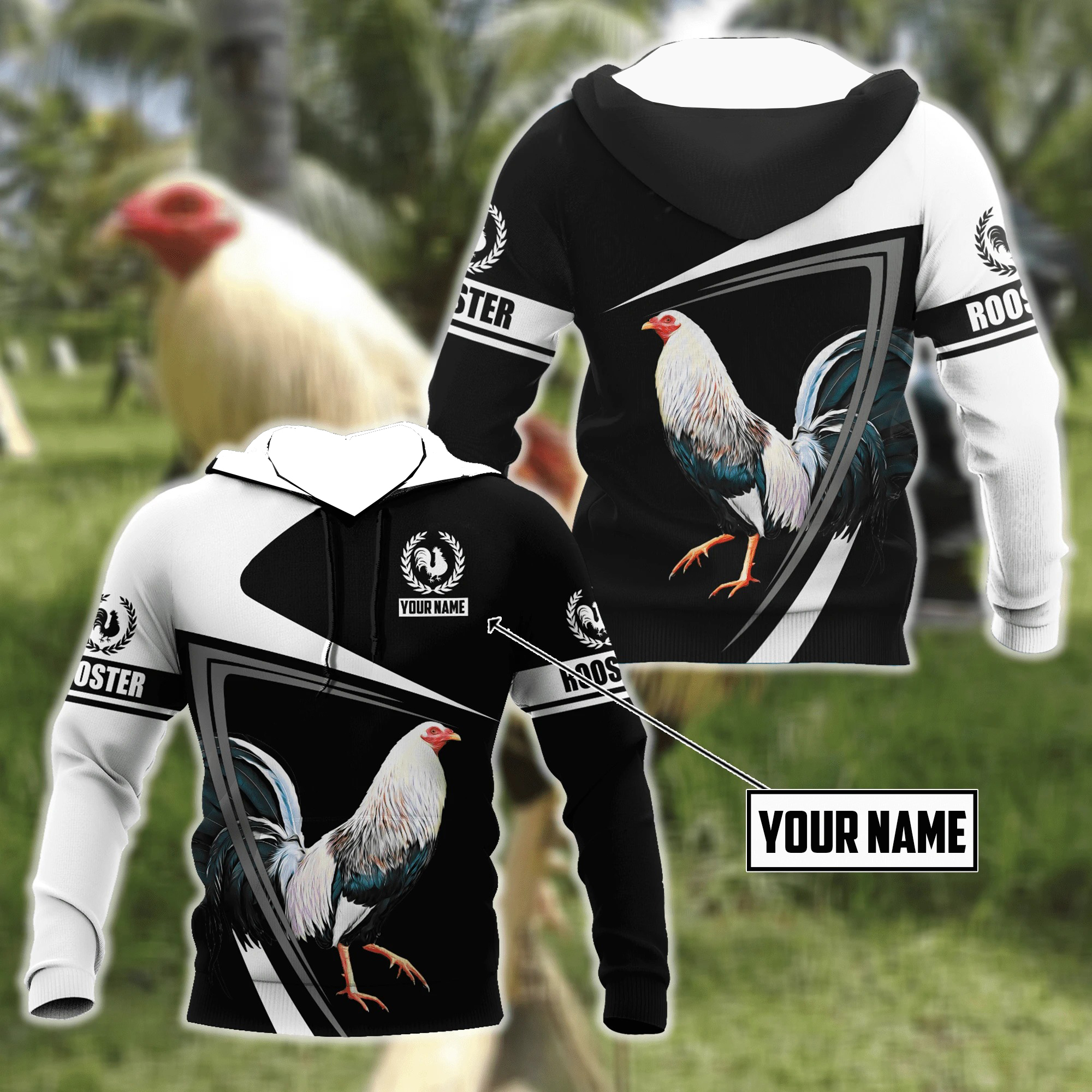 Personalized Rooster 3D Printed Unisex Shirts and Hoodie