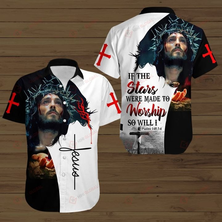 Jesus if the stars were made to worship so will i all over print shirt