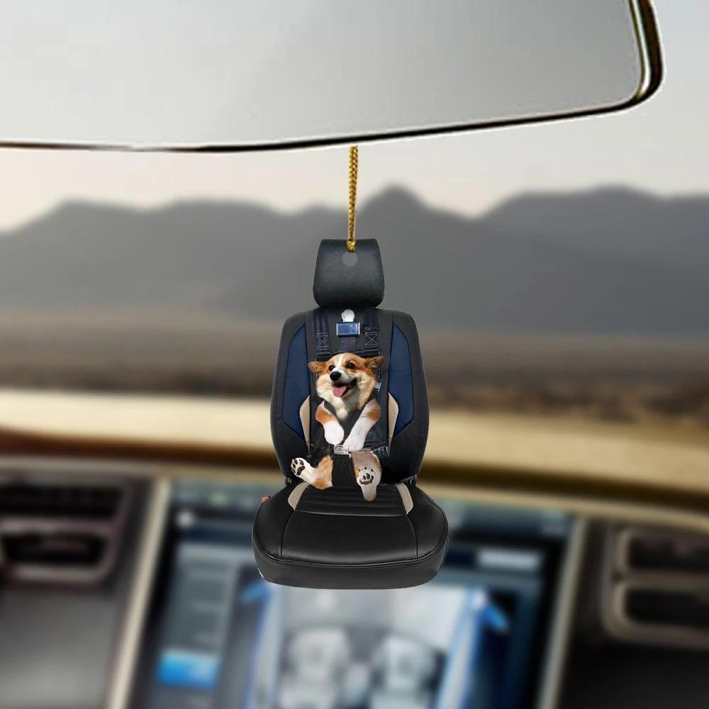 Corgi car seat corgi lovers dog moms ornament