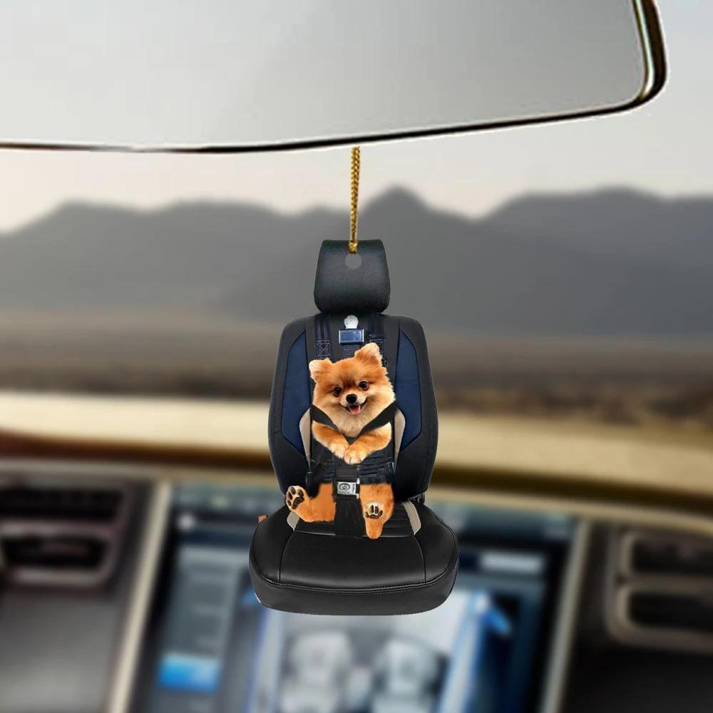 Pomeranian car seat pomeranian lovers dog moms ornament