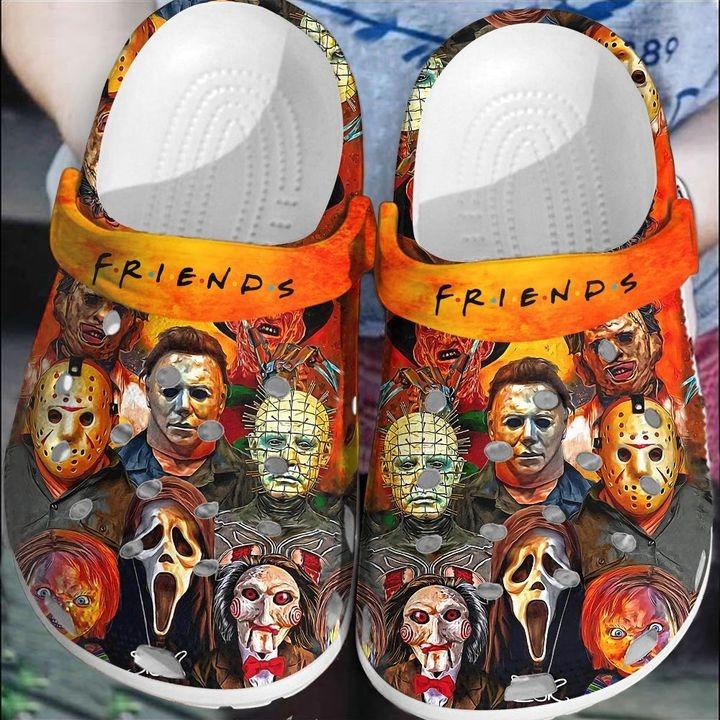 Halloween Horror Character Friends Crocs Clog Shoes