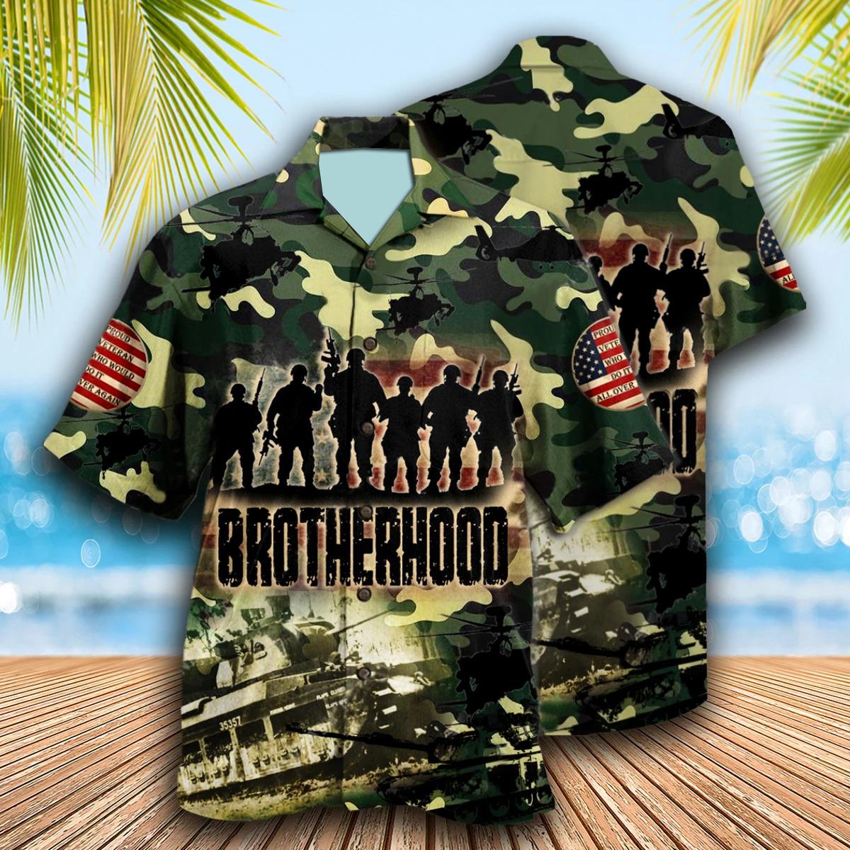 Veteran Thank You Brotherhood Hawaiian Shirt