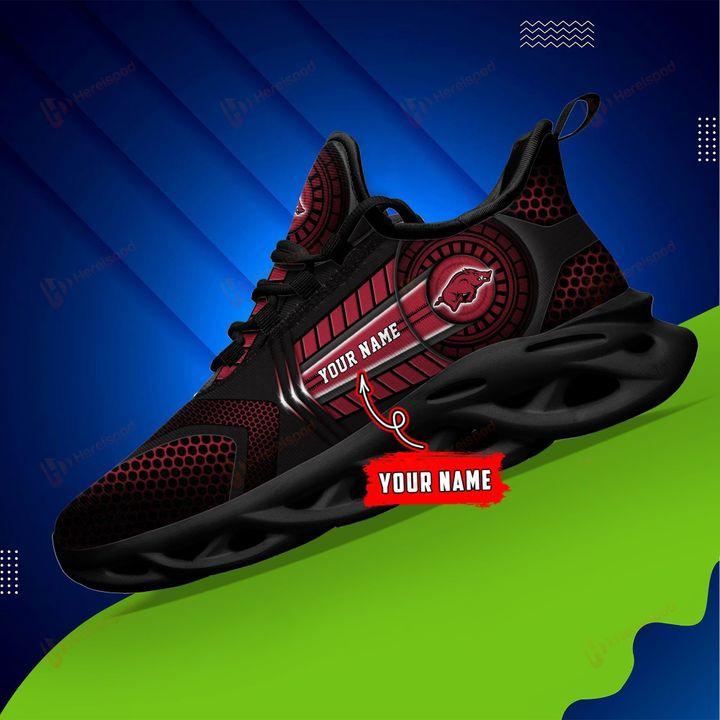NCAA Arkansas Razorbacks Personalized Name Clunky Max Soul Sneaker