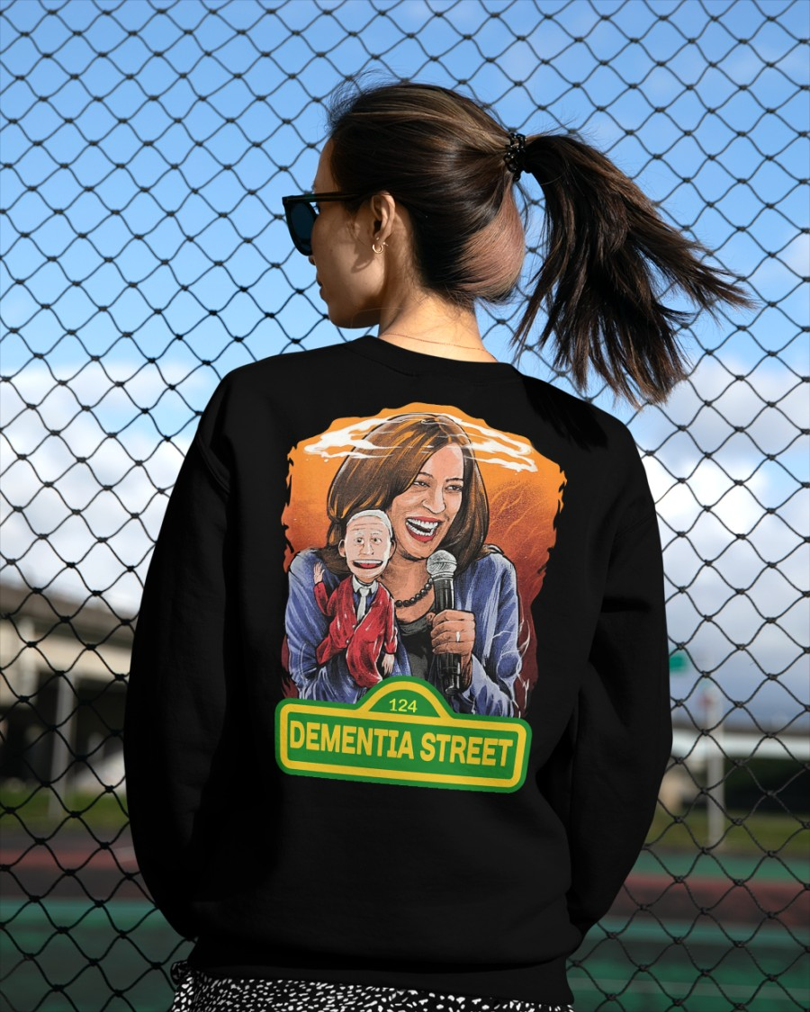 Kamala Harris and Joe Biden 124 Dementia Street shirt