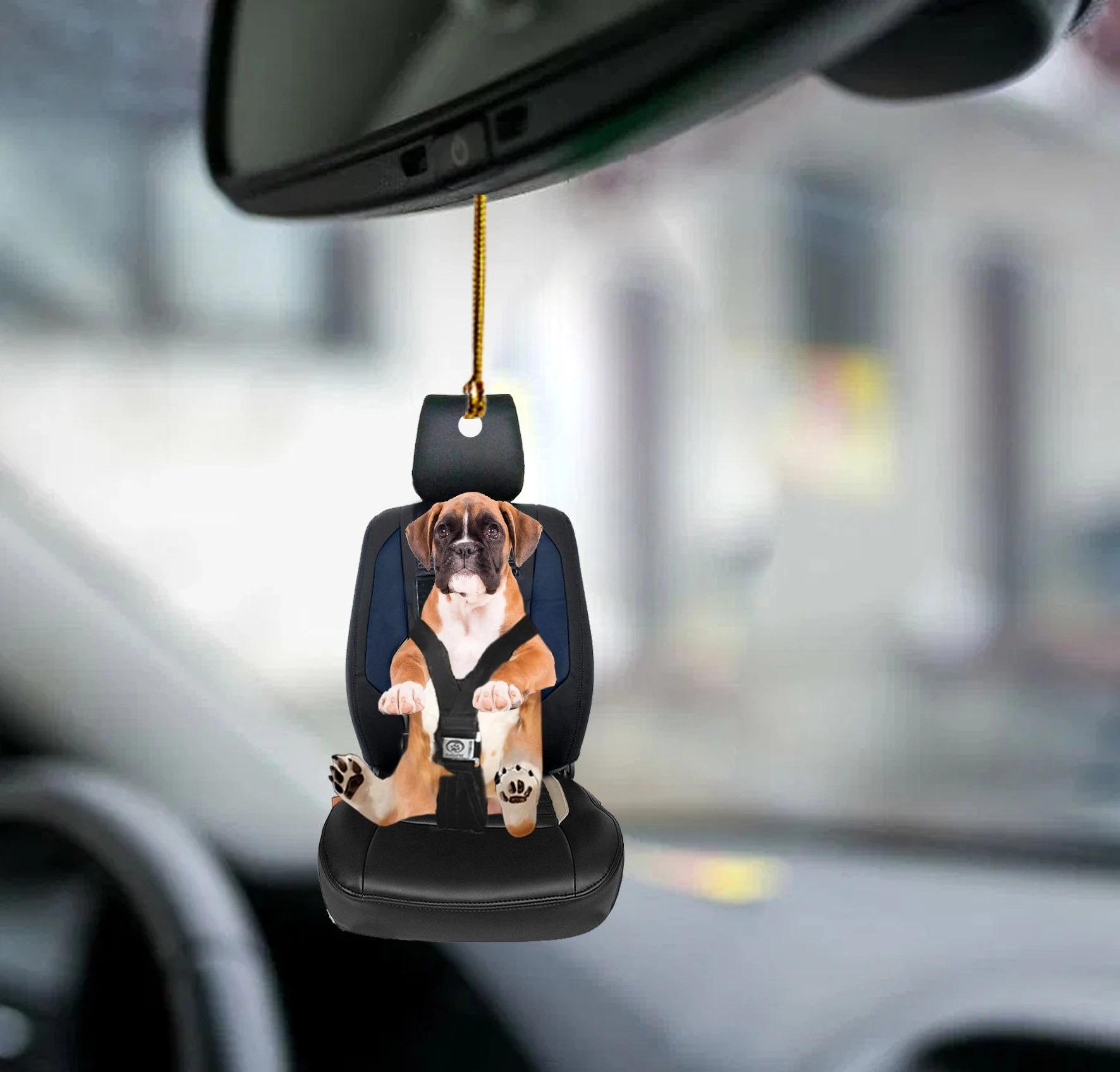 Boxer car seat boxer lover dog moms ornament