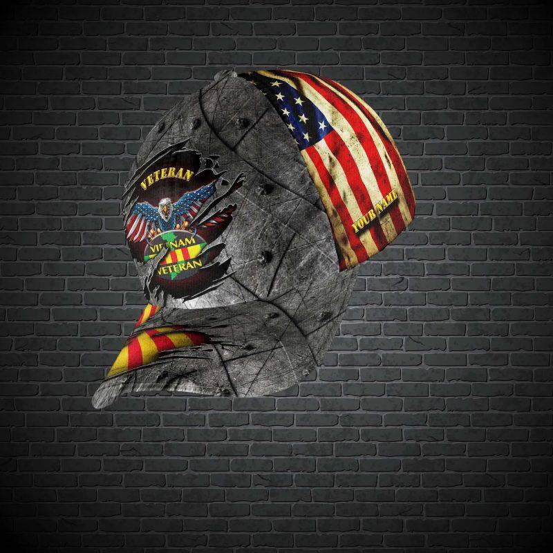 Personalized Name Vietnam Veteran Classic Hat Cap