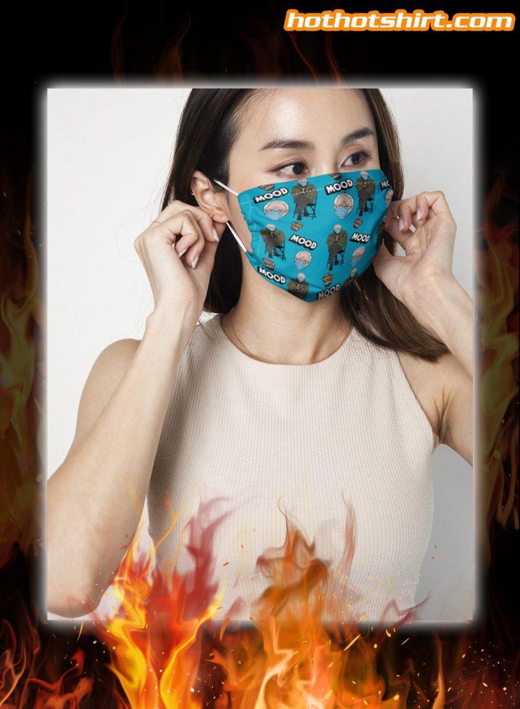 Bernie sanders inauguration meme face mask