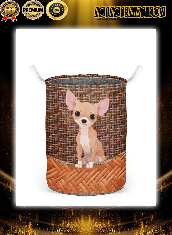 Chihuahua laundry basket