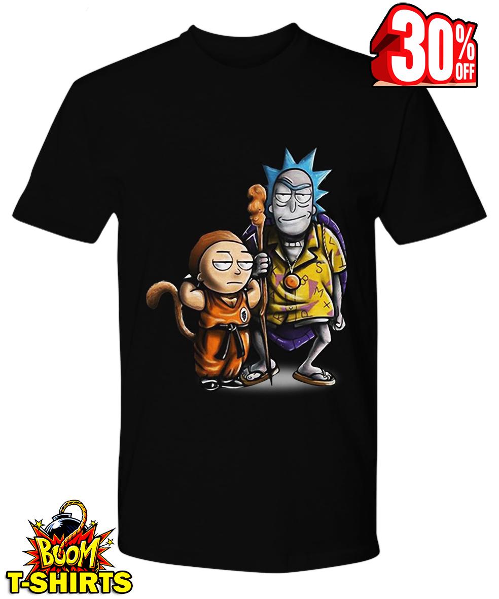 Goku Morty and Master Roshi Rick Dragon Ball shirt
