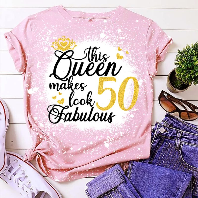 Personalized this queen make look 50 fabulous bleached shirt