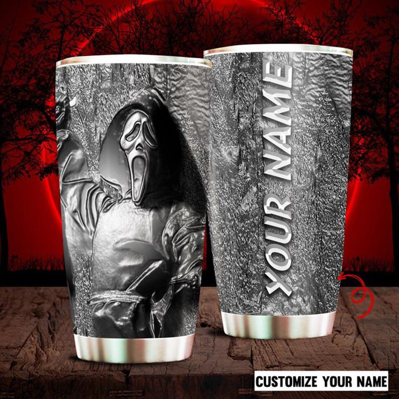 Personalized-Ghostface-Halloween-Custom-Name-Tumbler-1