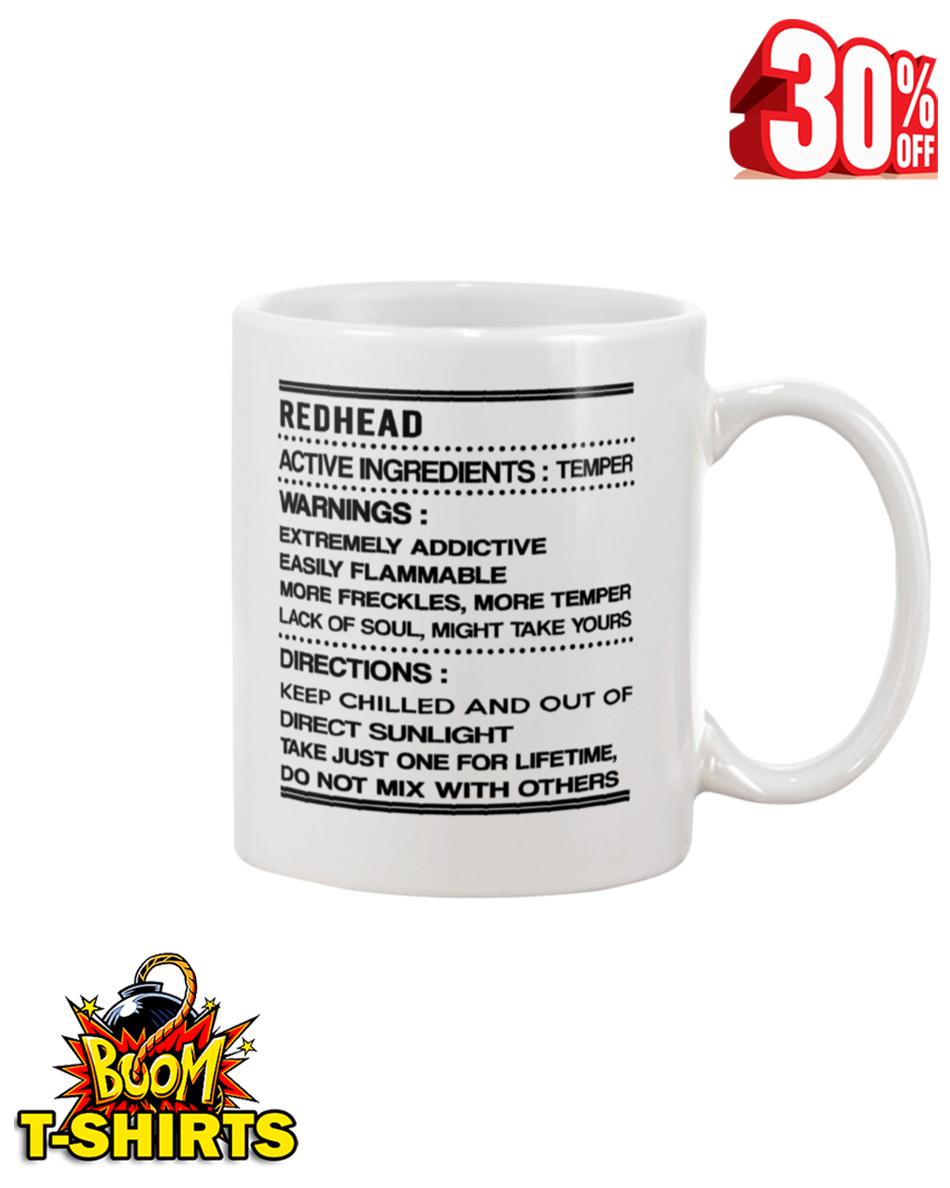 RedHead Active Ingredients Temper Warnings Directions mug