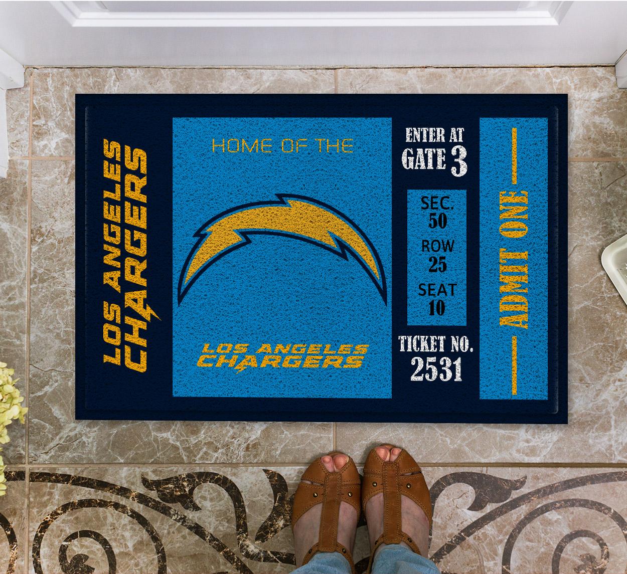NFL Los Angeles Chargers Team Ticket Runner Doormat