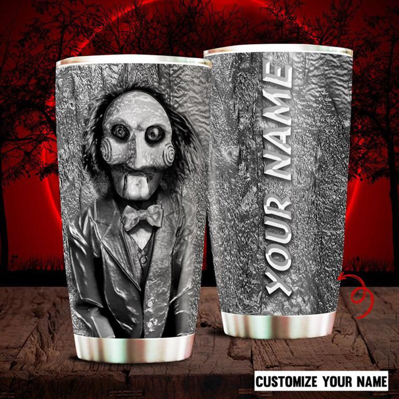 Custom-Name-Halloween-Jigsaw-Horror-Movie-Tumbler-1