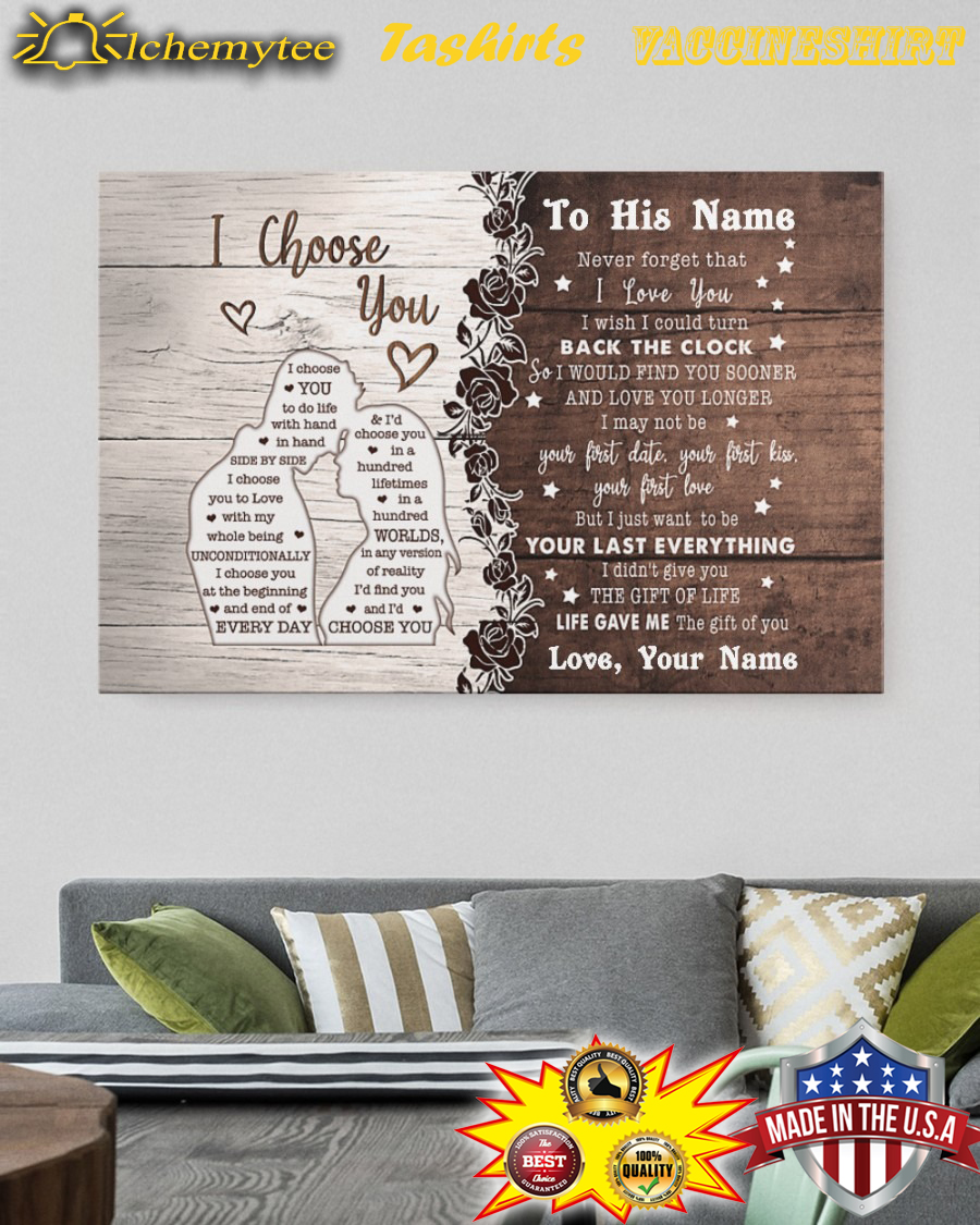 Personalized to husband i choose you canvas print