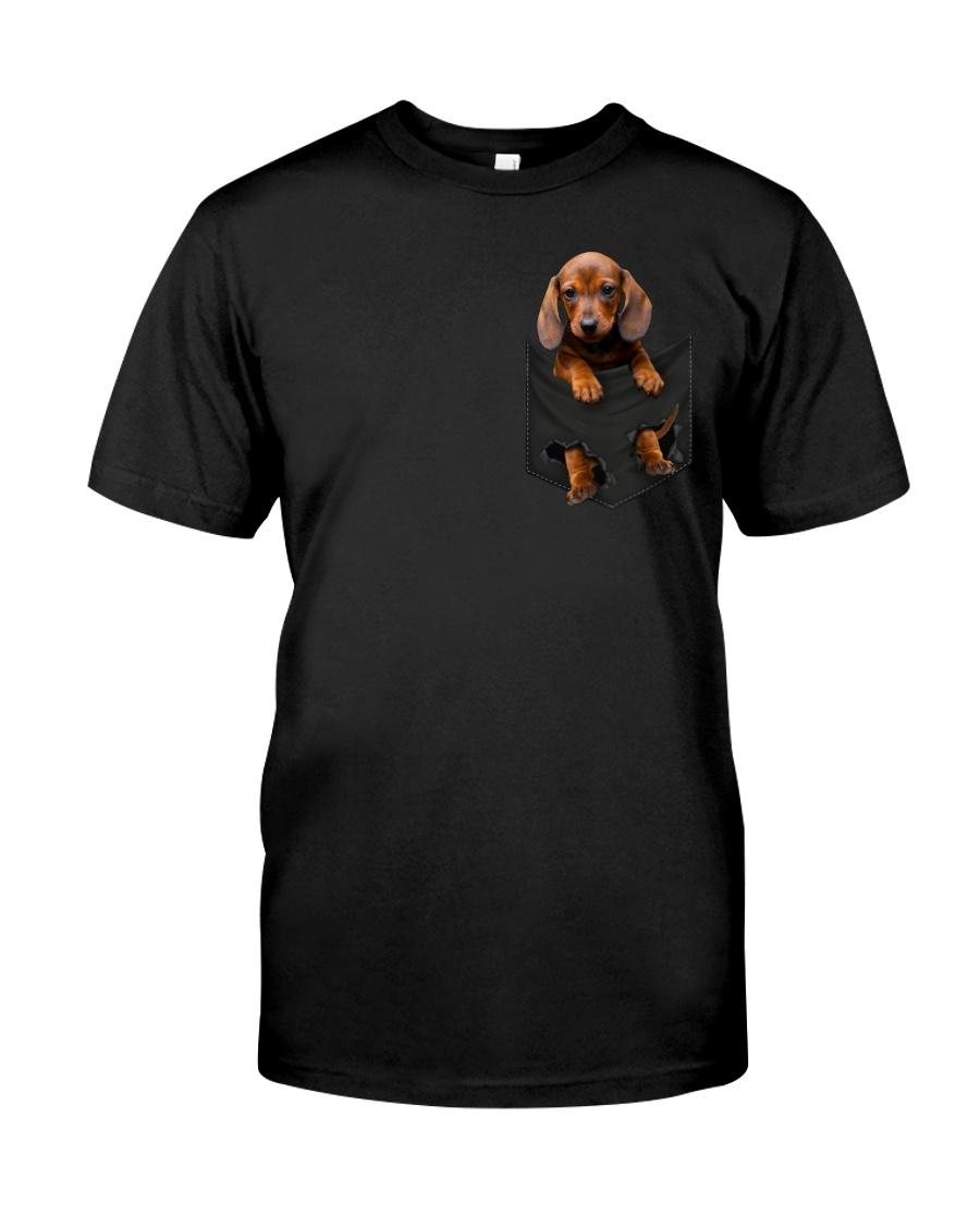 Dachshund In Pocket Classic T-Shirt