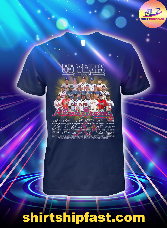 55-years-1966-2021-Atlanta-Braves-shirt - 1