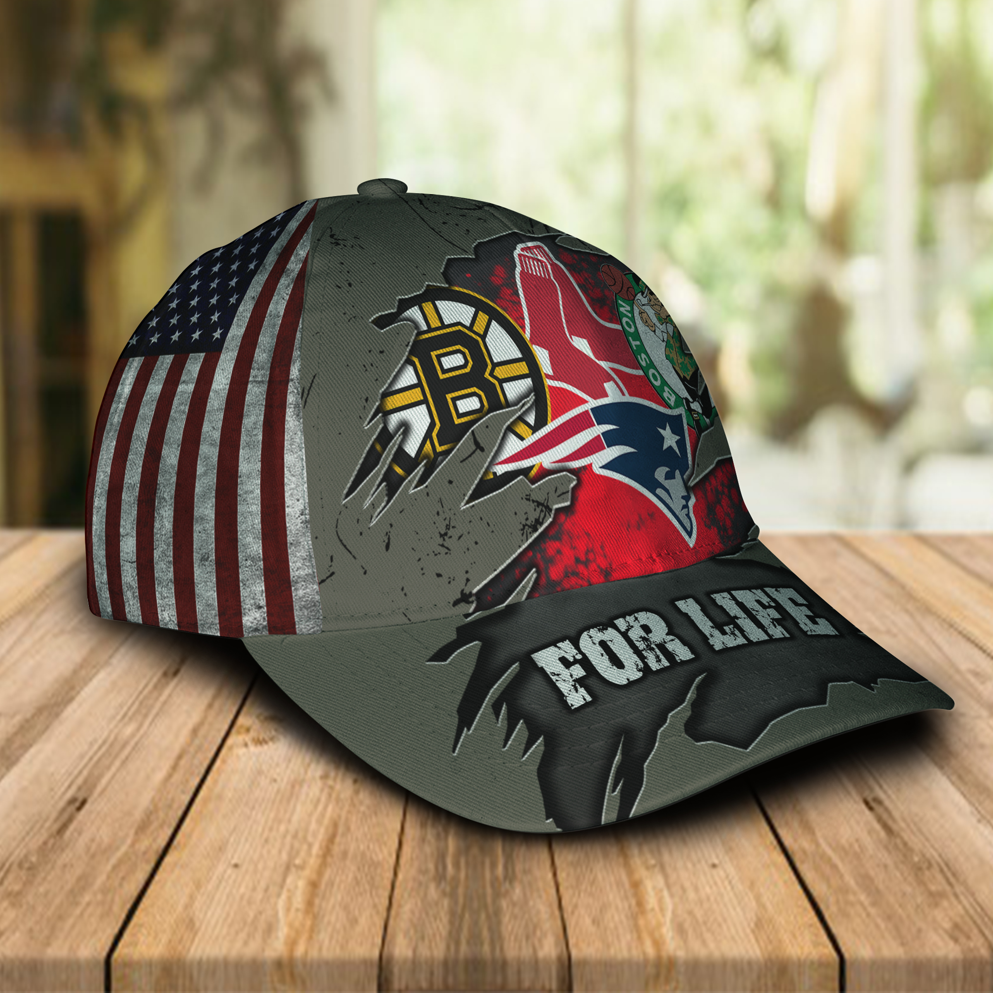 Boston-Celtics-New-England-Patriots-Boston-Bruins-Boston-Red-Sox-For-Life-Cap-Hat-1