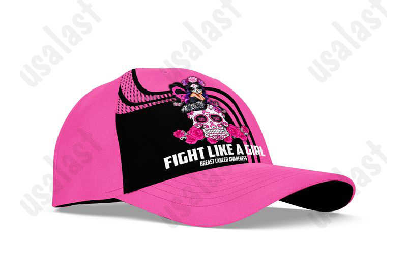 Breast-Cancer-Awareness-Fight-Like-A-Girl-Combo-Shirt-And-Cap-15-2