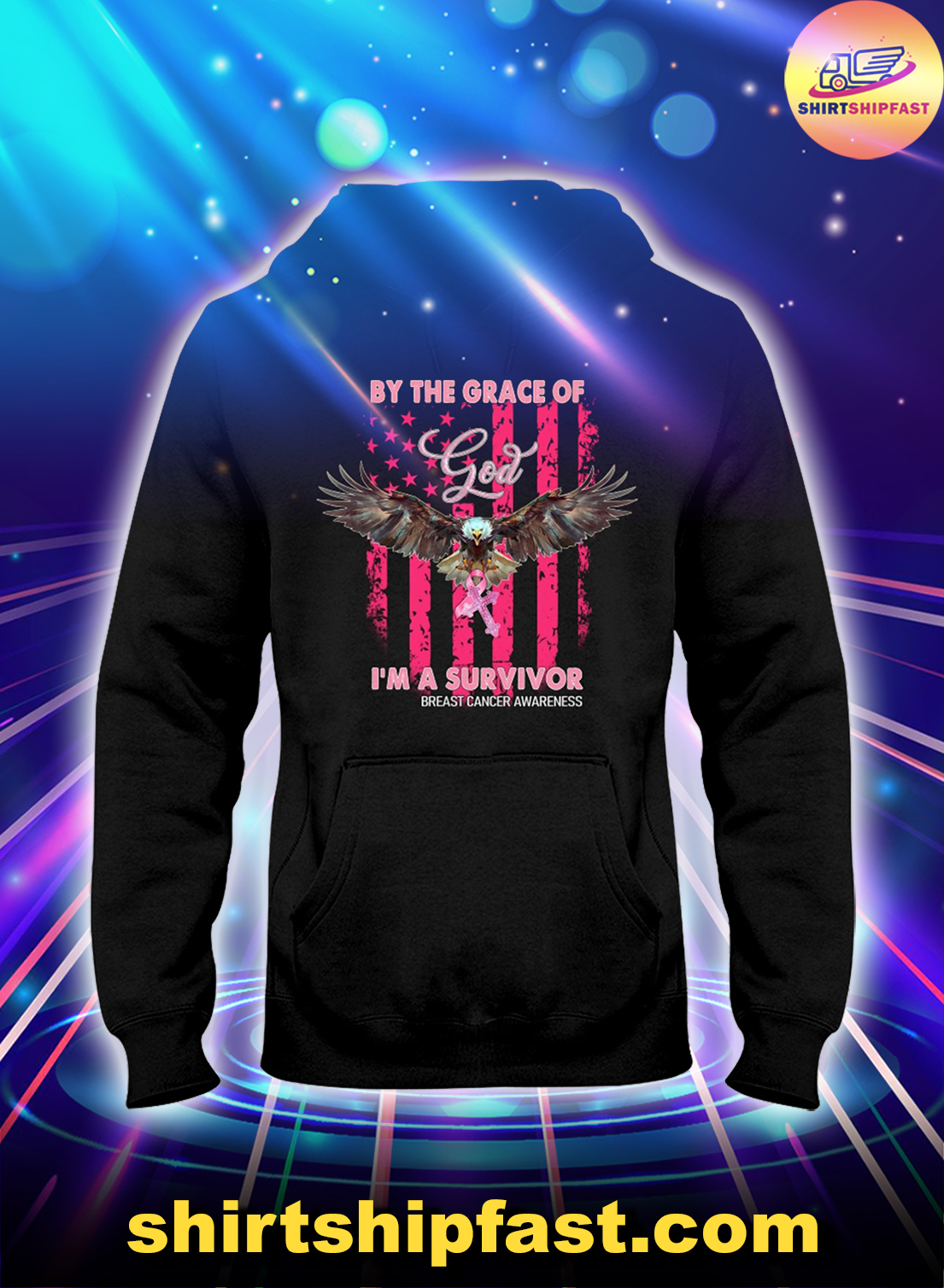 Flying-bald-eagle-By-the-grace-of-god-Im-a-survivor-breast-cancer-awareness-hoodie