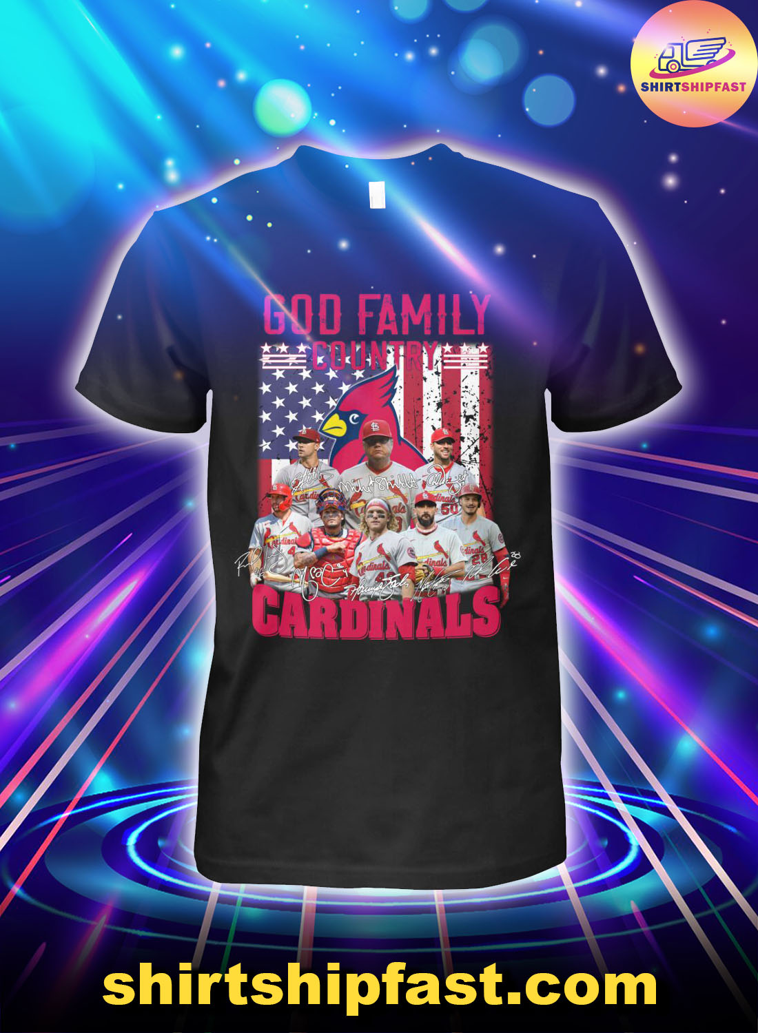 God-family-country-St.-Louis-Cardinals-American-flag-shirt - 1