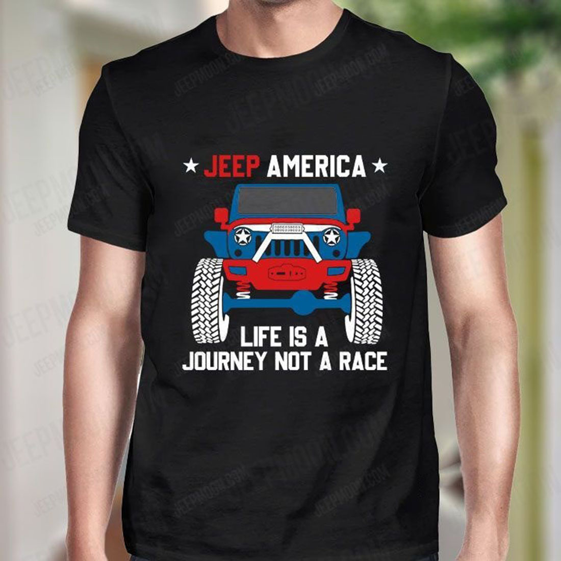 Jeep-America-Life-is-a-journey-not-a-race-shirt -1