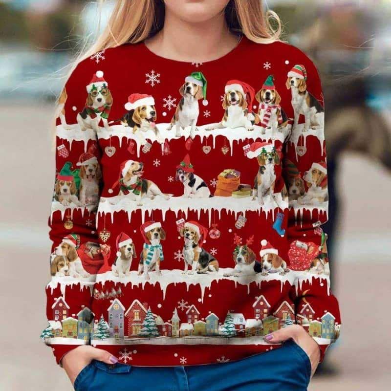 Labrador Retriever Snow Christmas 3D Ugly Sweater-1