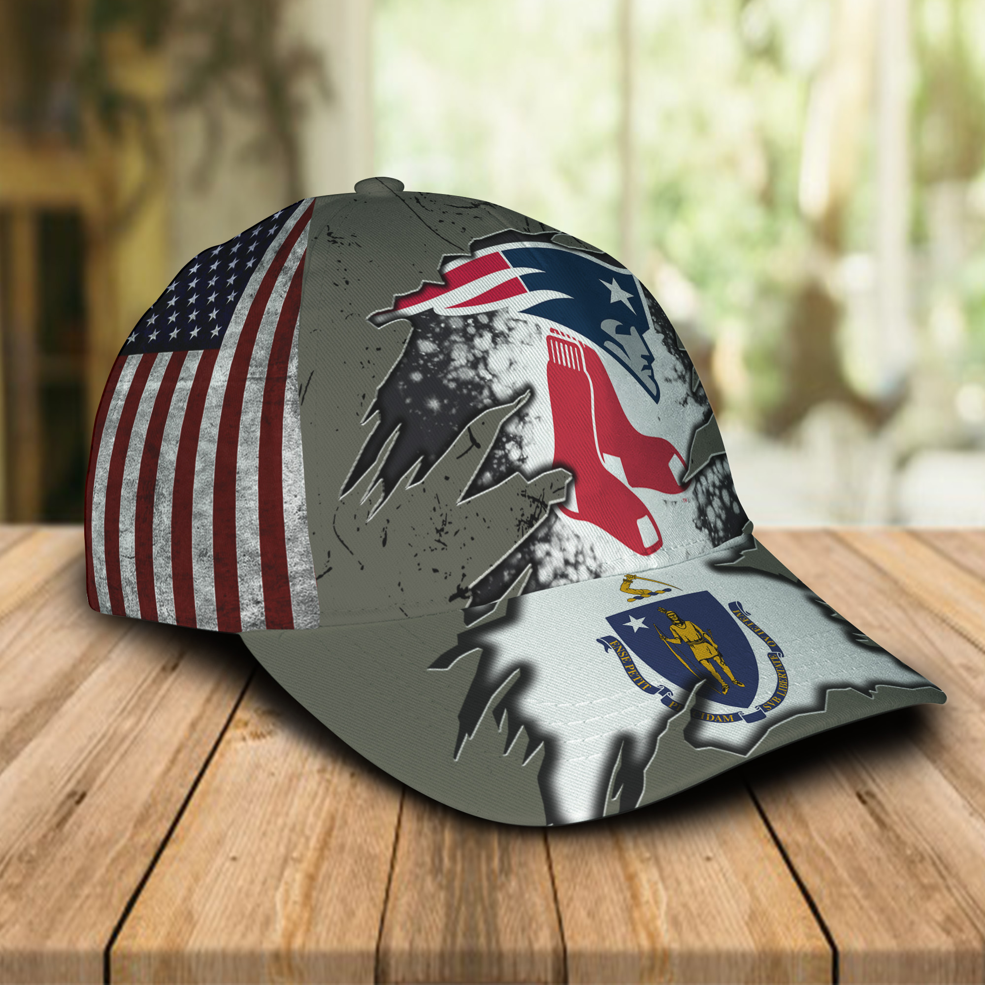 New England Patriots And Boston Red Sox Caps & Hats-1