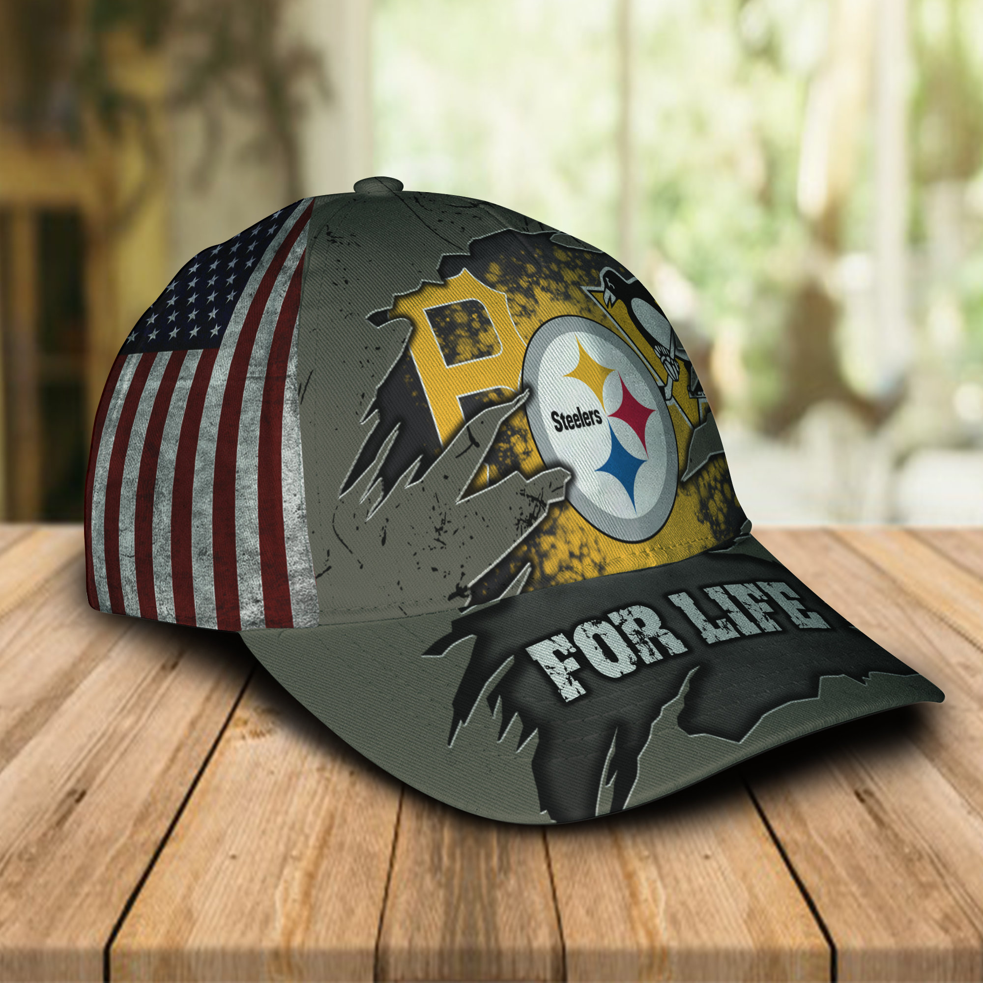Pittsburgh Pirates Pittsburgh Penguins Pittsburgh Steelers Sports For Life Cap Hat -1