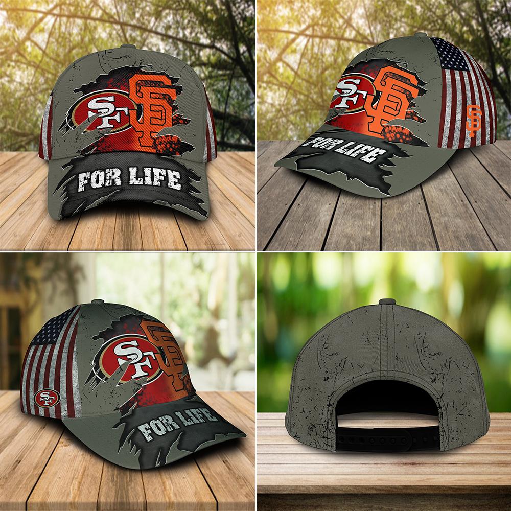 San Francisco 49ers Vs San Francisco Giants For Life Cap-1