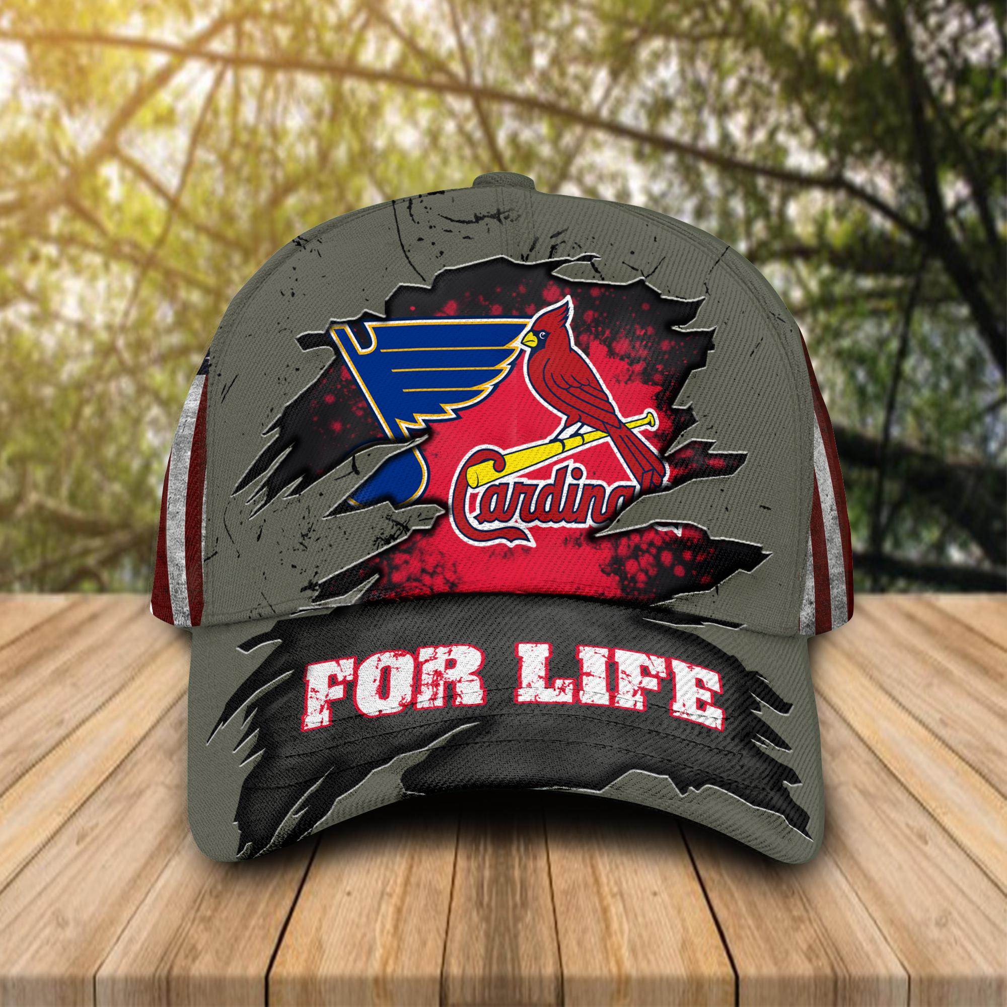 St. Louis Cardinals St. Louis Blues For Life Cap Hat