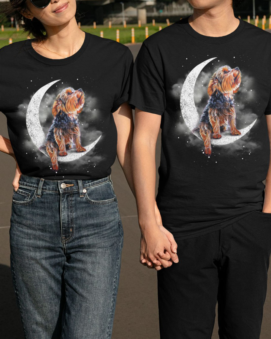 Yorkshire-Terrier-sit-on-the-moon-shirt -1