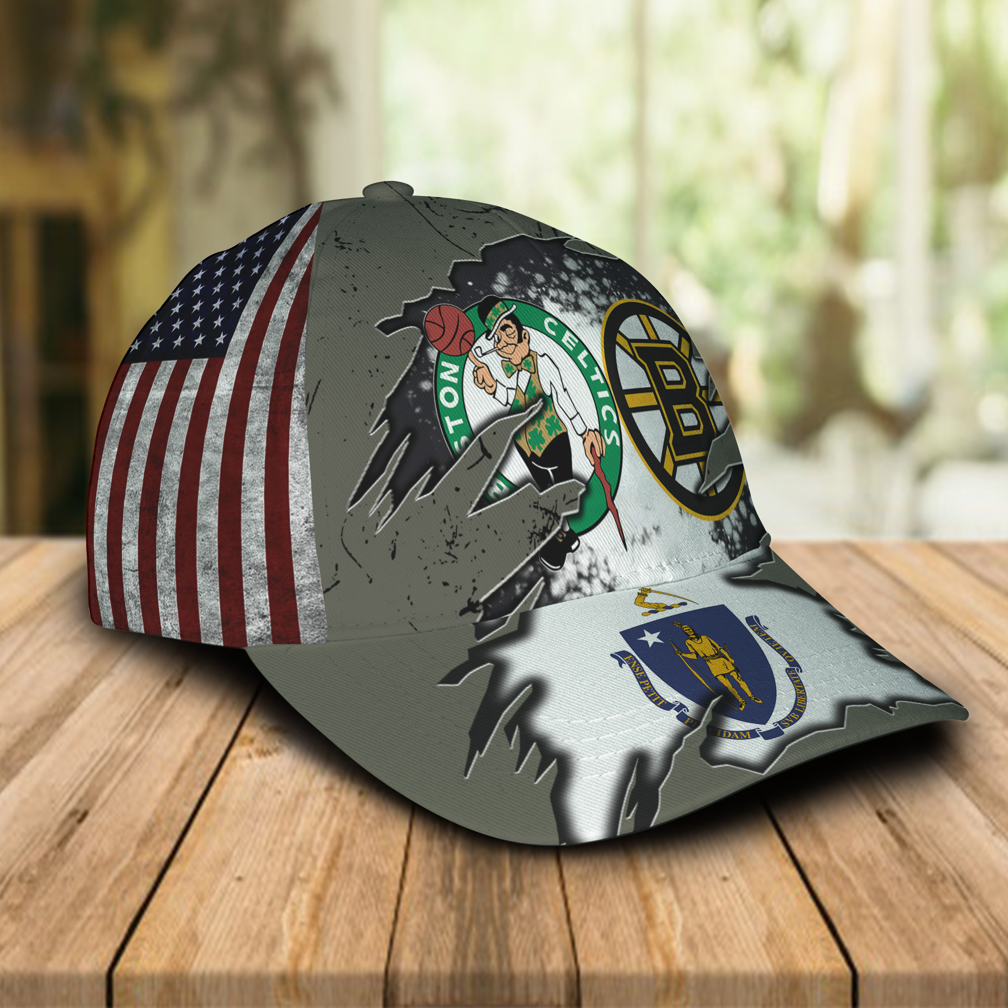 Boston Celtics And Boston Bruins Caps & Hats